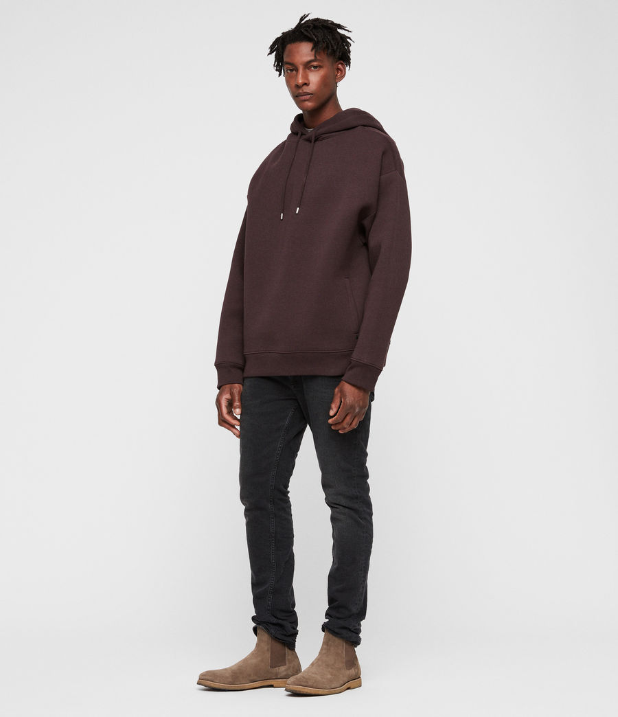 Men's Hibard Pullover Hoodie (oxblood_red) - Image 3
