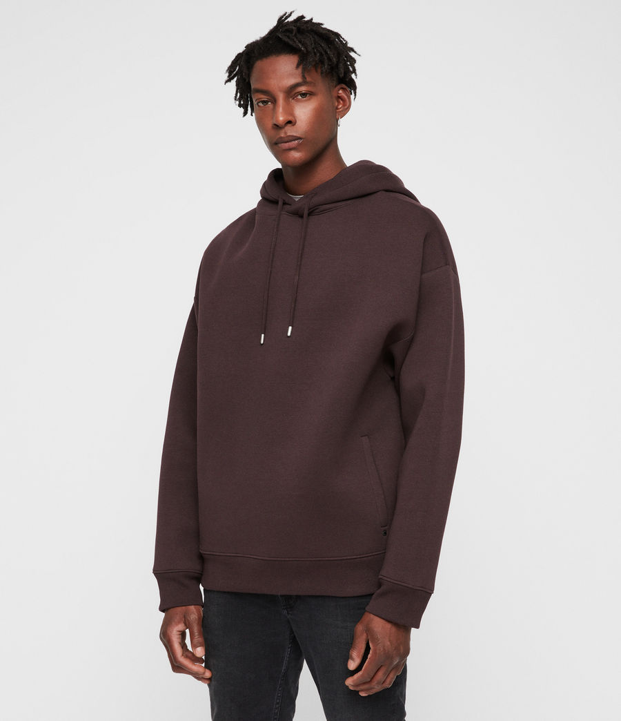 Men's Hibard Pullover Hoodie (oxblood_red) - Image 4