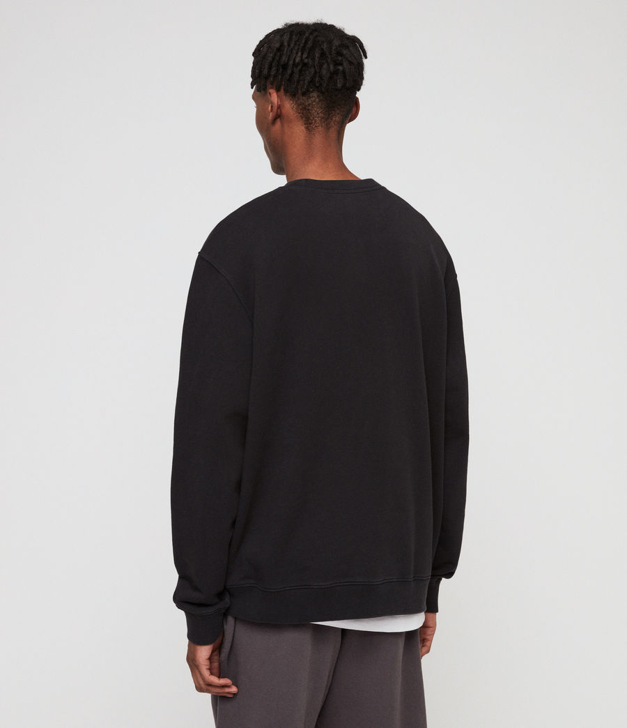 Men's Avio Sweatshirt (jet_black) - Image 5