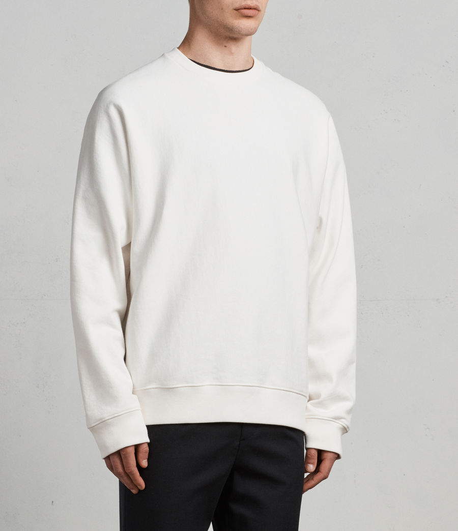 Mens Gethian Crew Sweatshirt (chalk_white) - Image 3