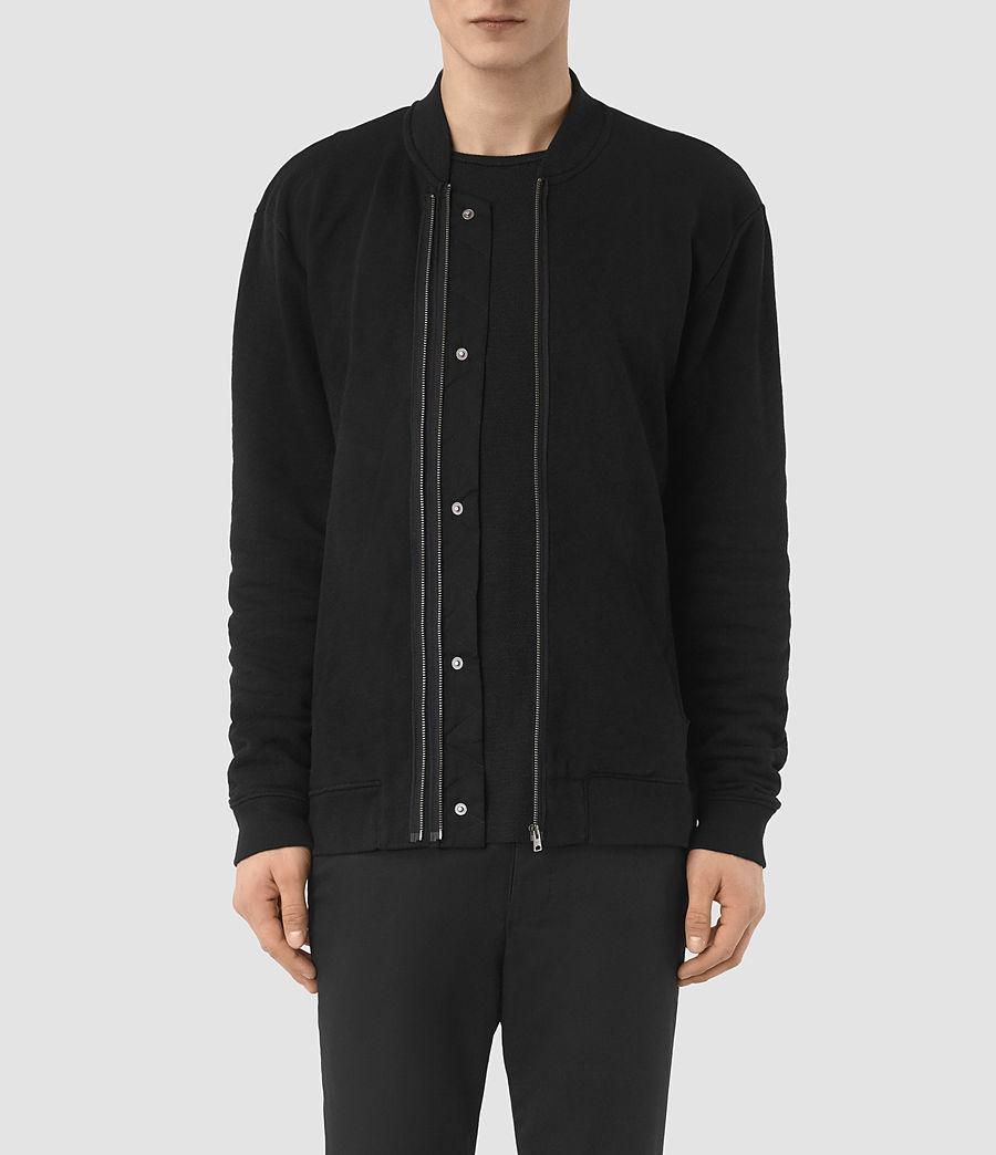 Mens Double Bomber Sweatshirt (jet_black) - Image 1