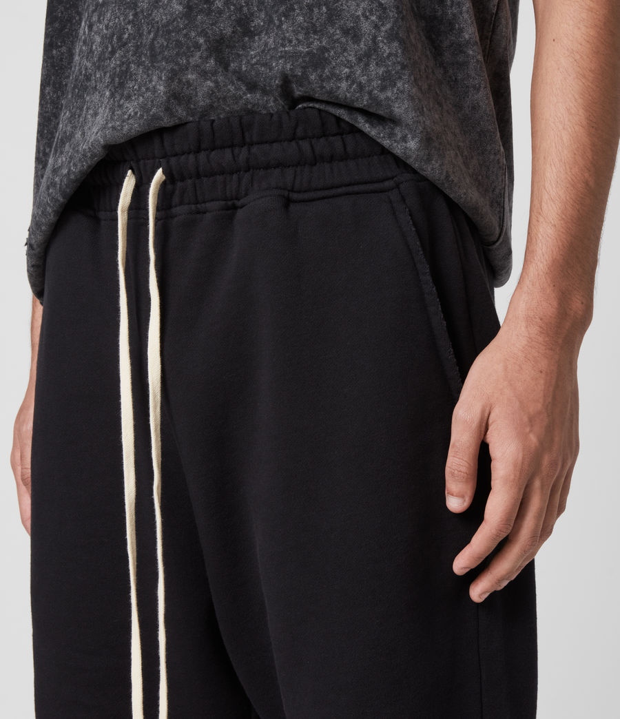 Mens Avio Sweat Shorts (jet_black) - Image 2