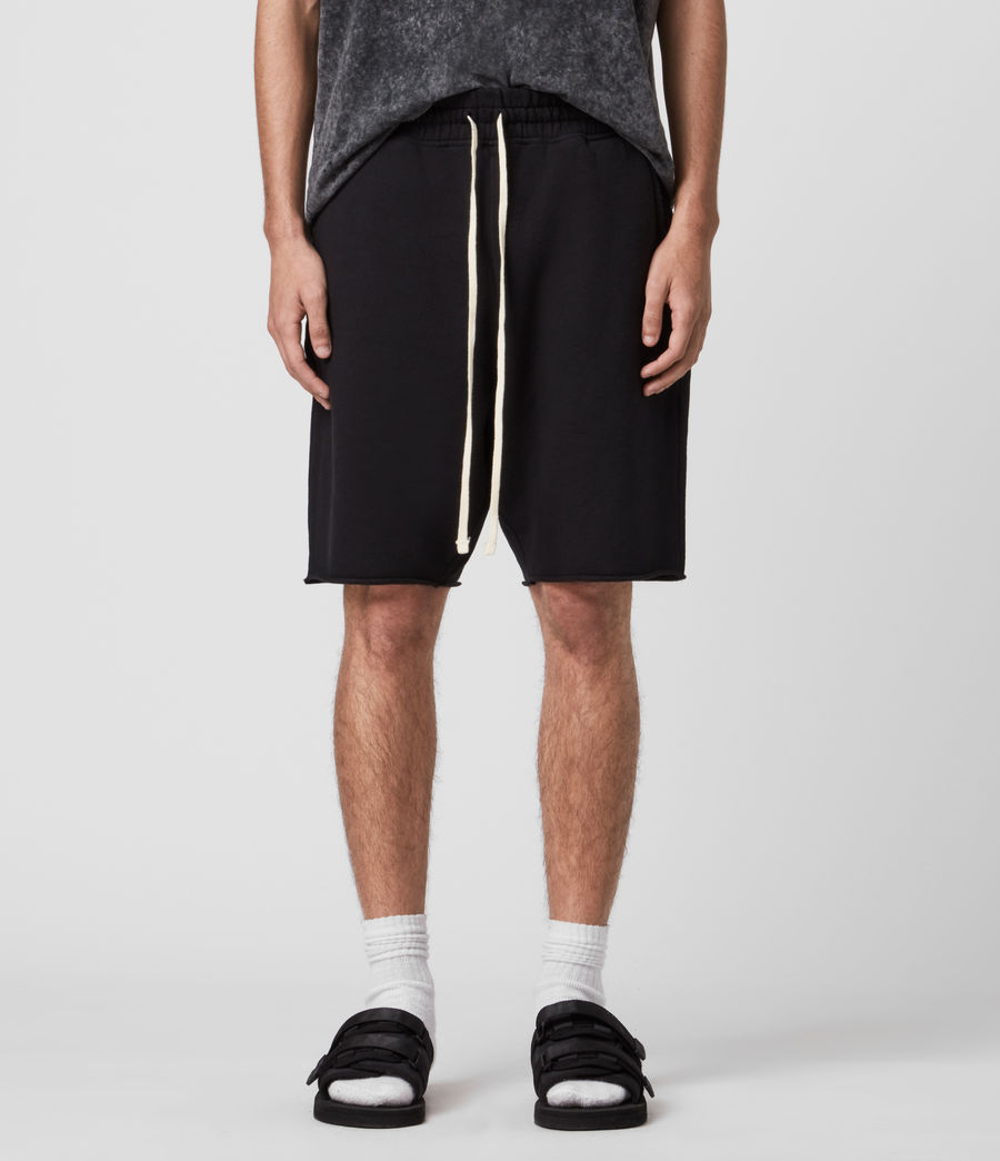 Mens Avio Sweat Shorts (jet_black) - Image 3