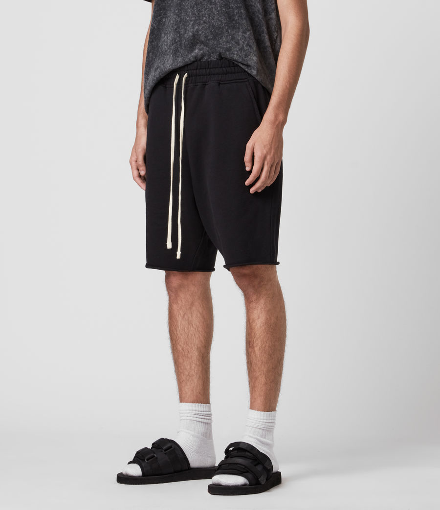 Mens Avio Sweat Shorts (jet_black) - Image 4