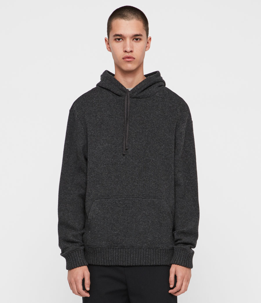 Men's Jethro Pullover Hoodie (charcoal_marl) - Image 1