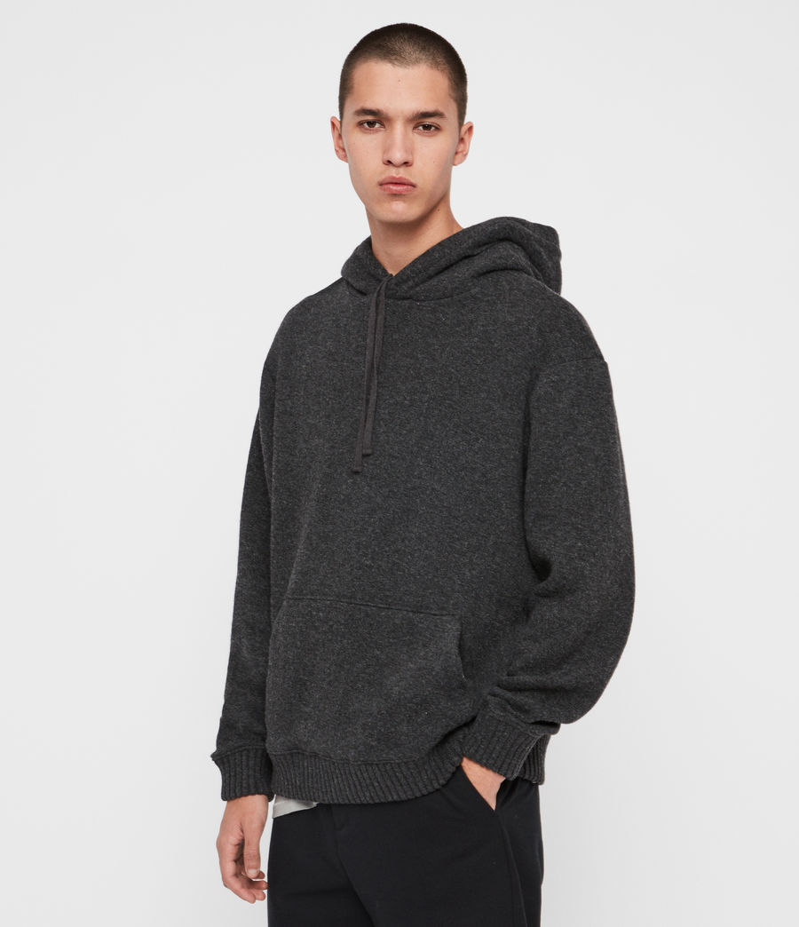 Men's Jethro Pullover Hoodie (charcoal_marl) - Image 4