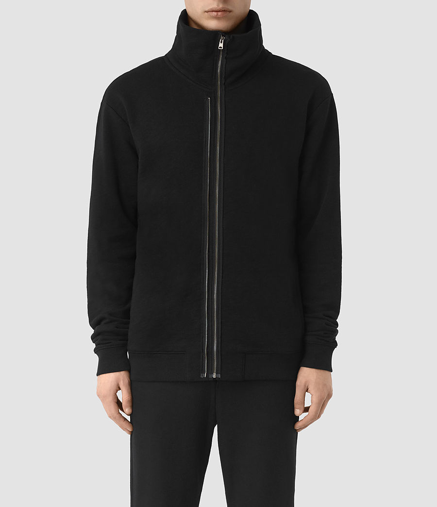 Mens Double Funnel Neck Sweatshirt (jet_black) - Image 1