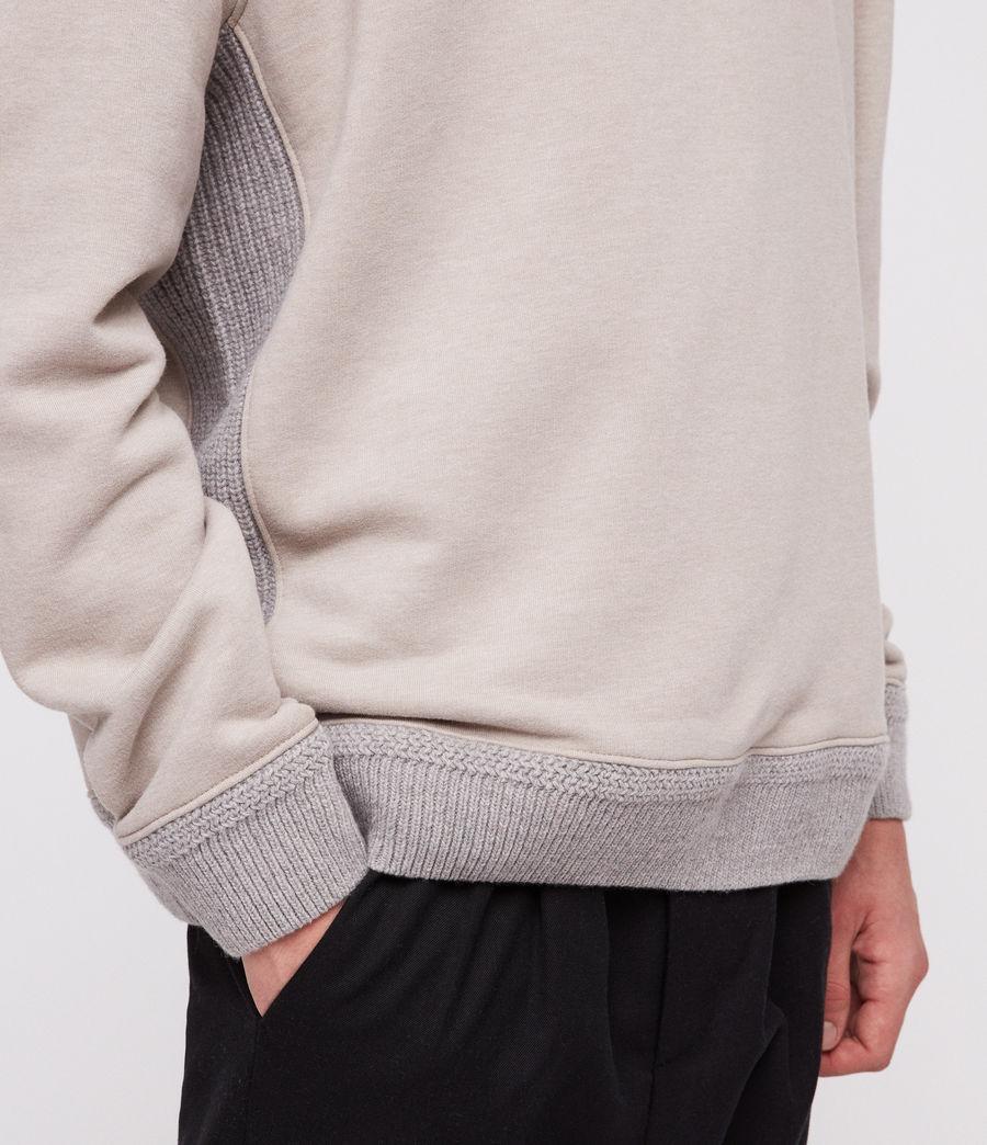 Mens Senior Crew Sweatshirt (oat_marl) - Image 2