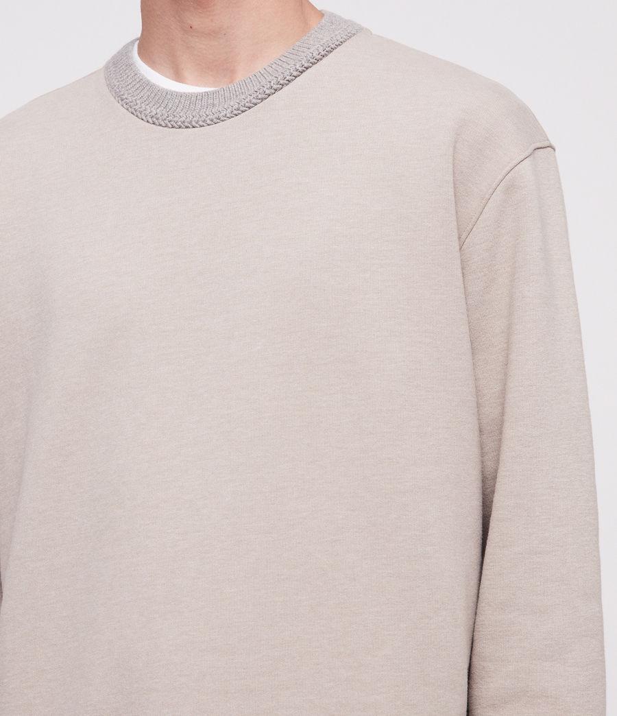 Mens Senior Crew Sweatshirt (oat_marl) - Image 3