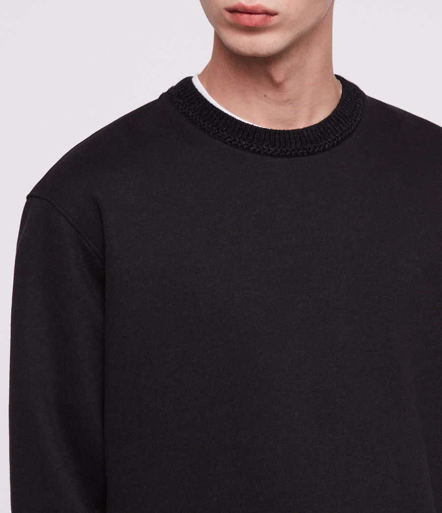 Men's Senior Crew Sweatshirt (jet_black) - Image 2