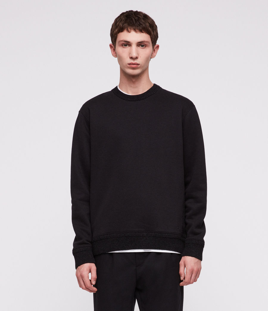 Men's Senior Crew Sweatshirt (jet_black) - Image 3