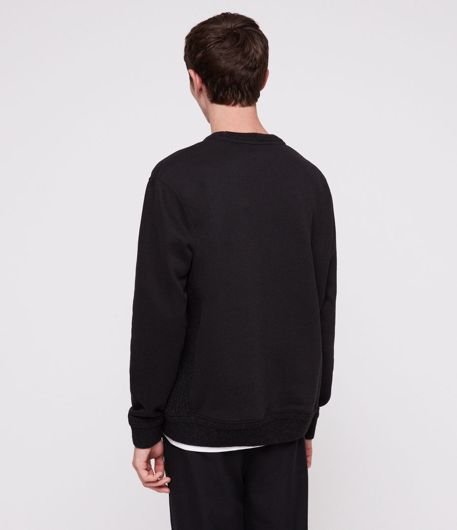 Men's Senior Crew Sweatshirt (jet_black) - Image 4