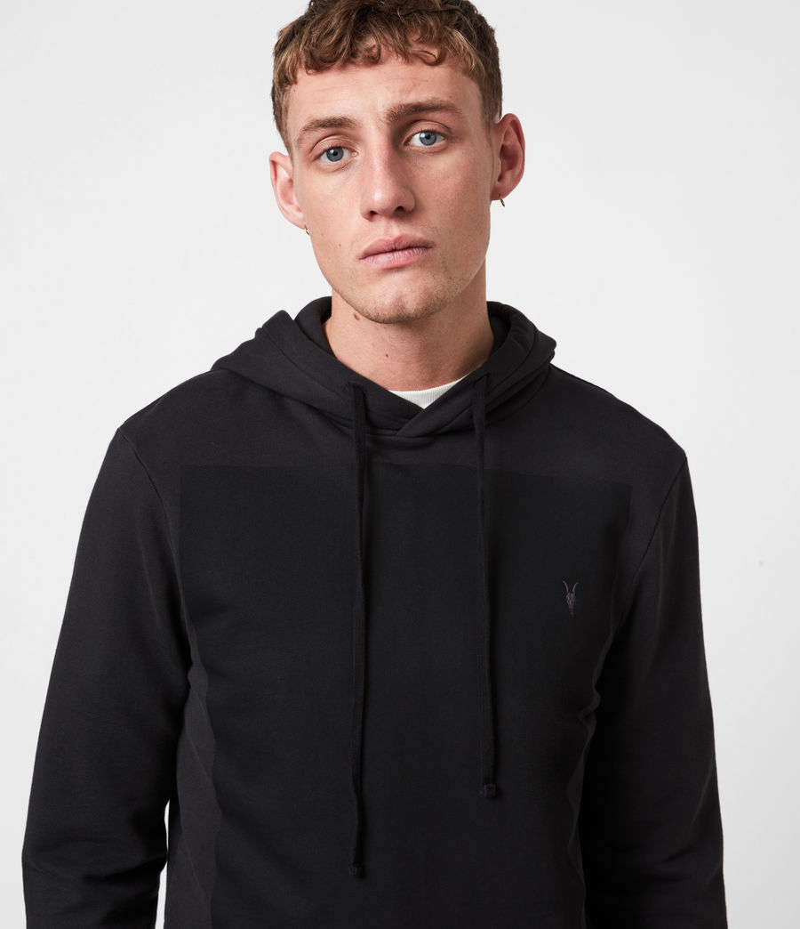 Men's Lobke Pullover Hoodie (washed_black) - Image 4