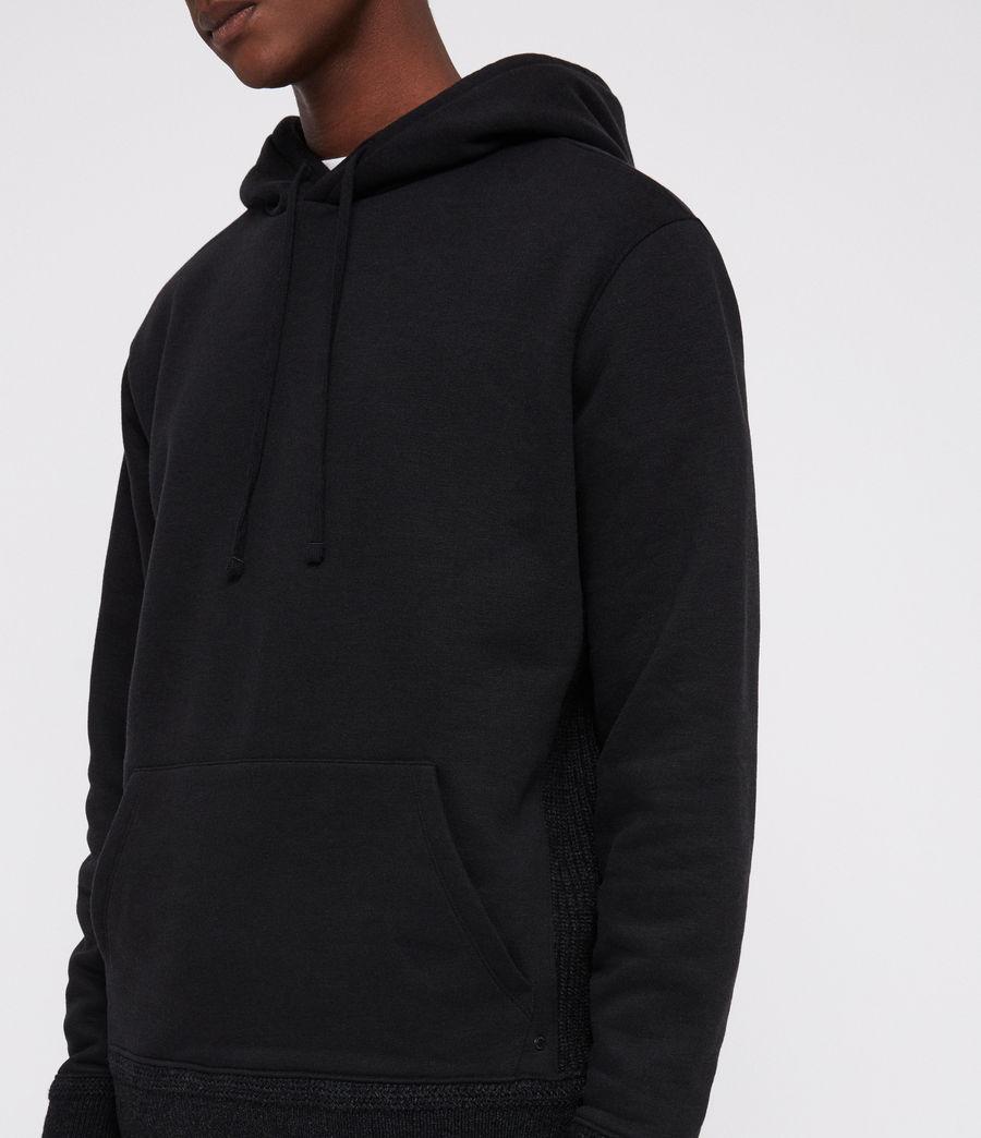 Mens Senior Hoodie (black) - Image 3