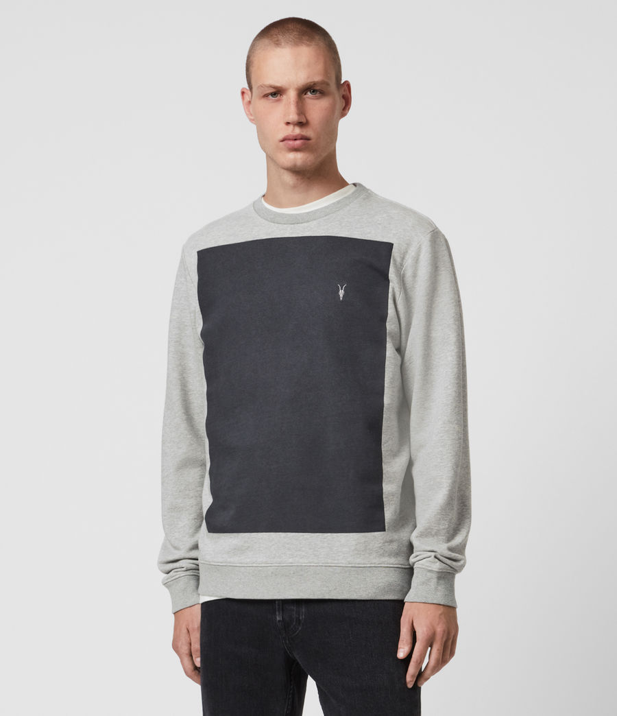 Mens Lobke Crew Sweatshirt (grey_marl) - Image 1