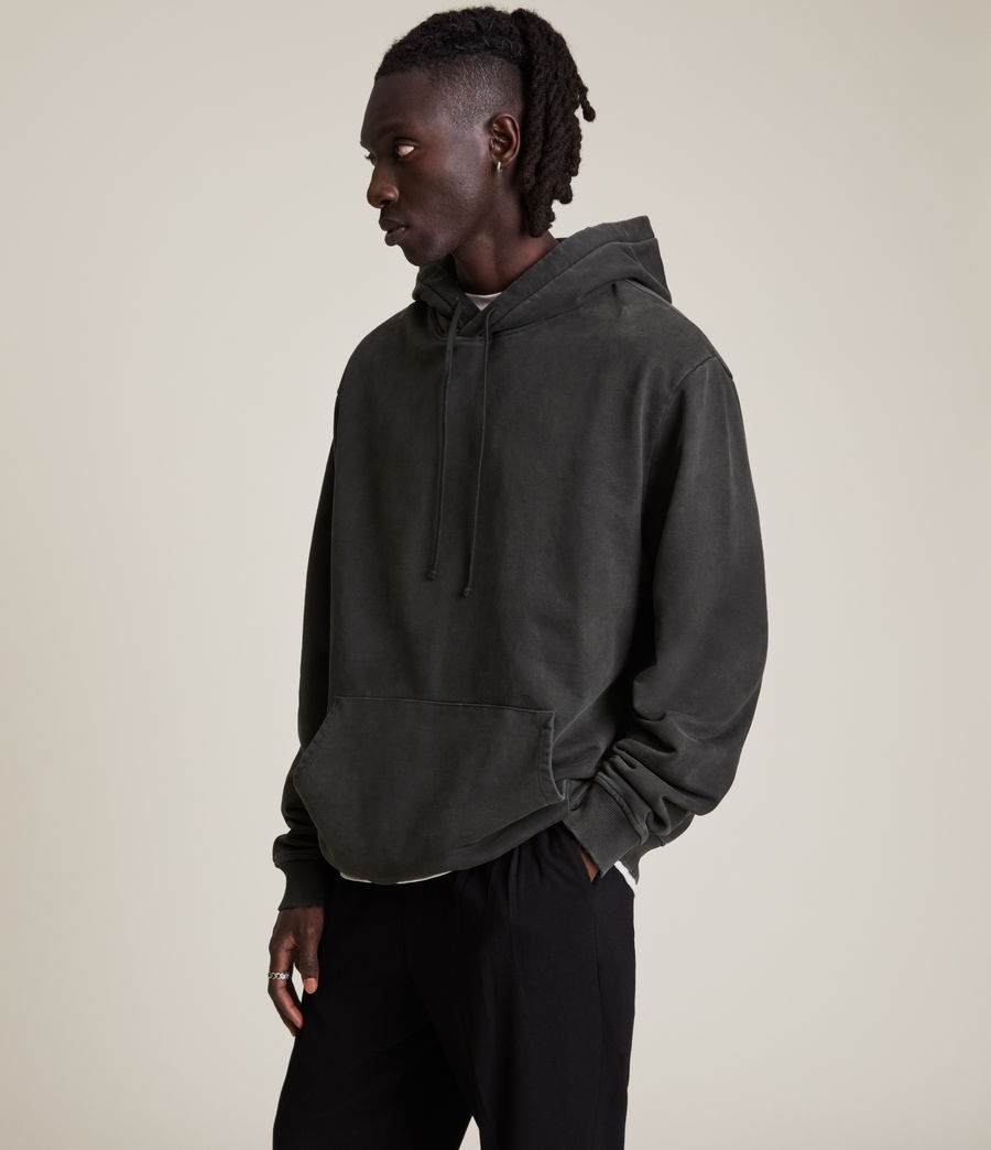 Hommes Roswell Pullover Hoodie (washed_black) - Image 4