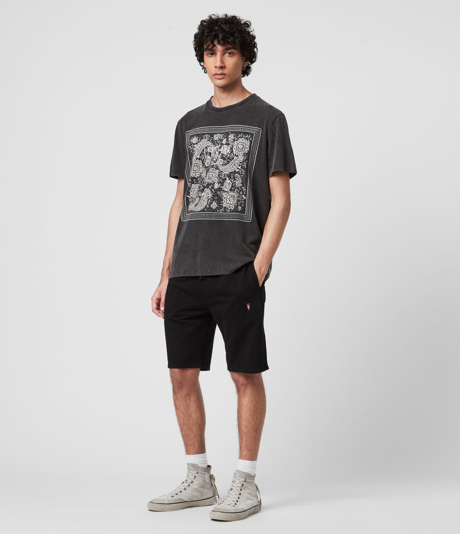 Mens Phoenix Sweat Shorts (jet_black) - Image 3