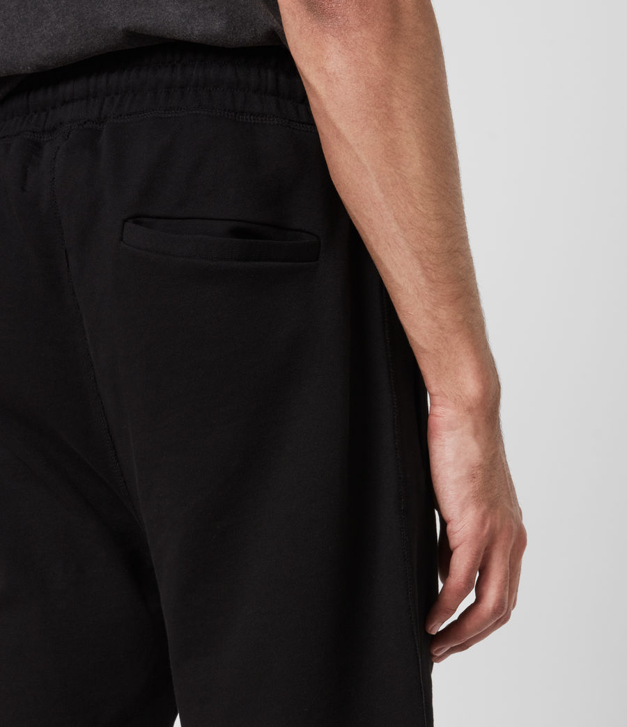 Mens Phoenix Sweat Shorts (jet_black) - Image 5