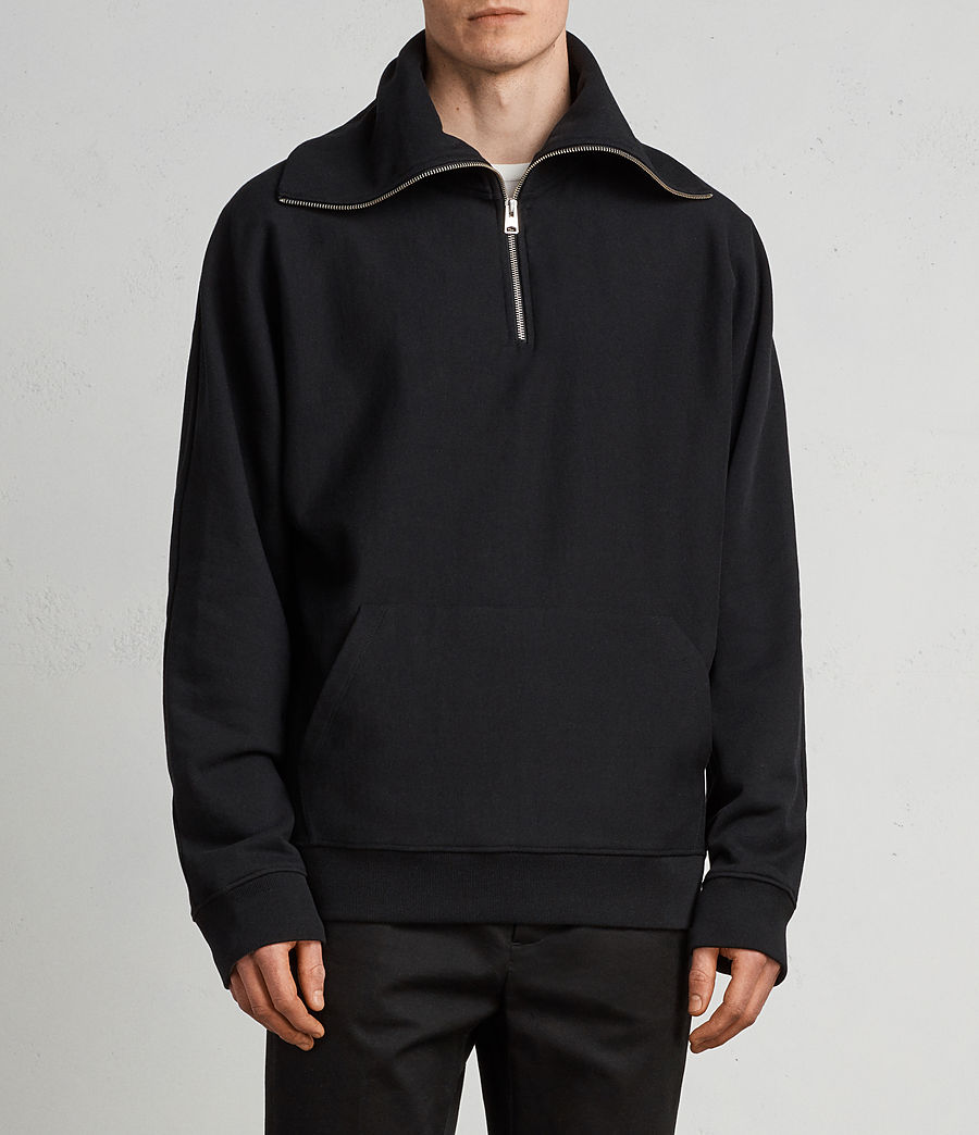 Men's Gethian Funnel Sweatshirt (black) - Image 1