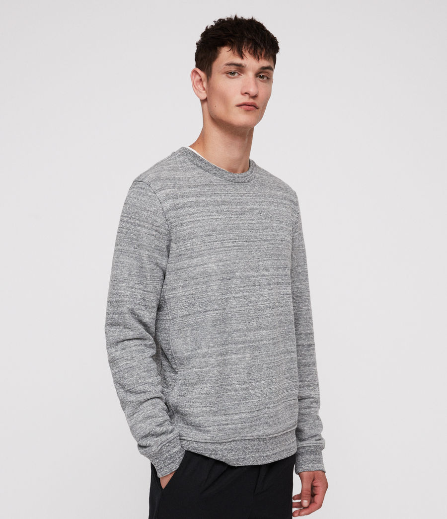 Men's Mind Crew Sweatshirt (grey_mouline) - Image 4