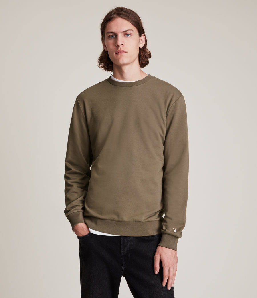 Herren Haste Crew Sweatshirt (peppered_brown) - Image 1