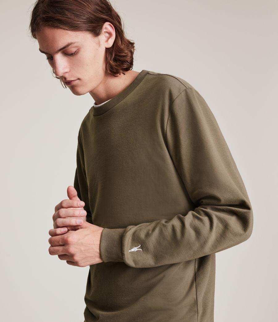 Herren Haste Crew Sweatshirt (peppered_brown) - Image 2