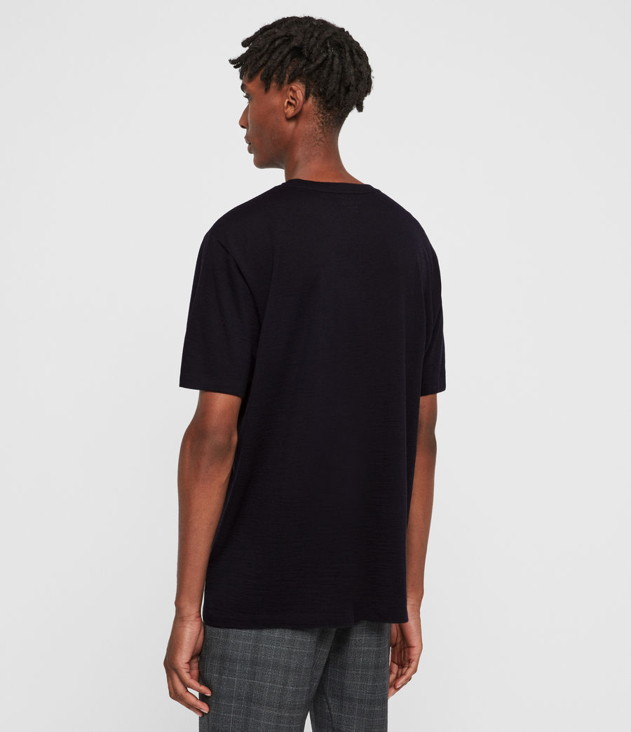 Mens Aiden Wool Crew T-Shirt (ink_navy) - Image 5