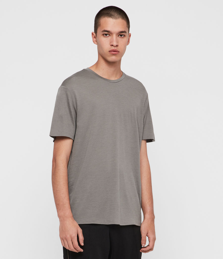Mens Aiden Wool Crew T-Shirt (putty_brown) - Image 4