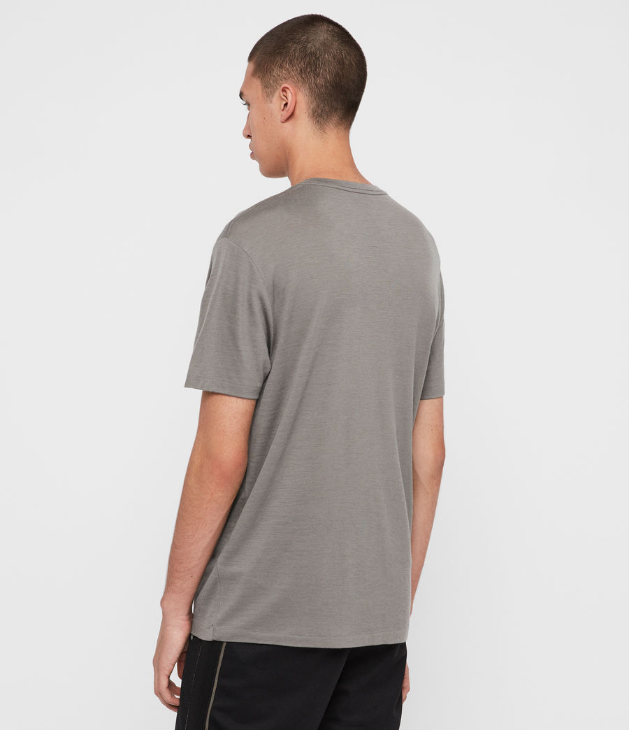 Men's Aiden Wool Crew T-Shirt (putty_brown) - Image 5
