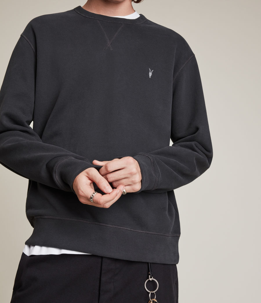 Men's Ollie Crew Sweatshirt (washed_black) - Image 2