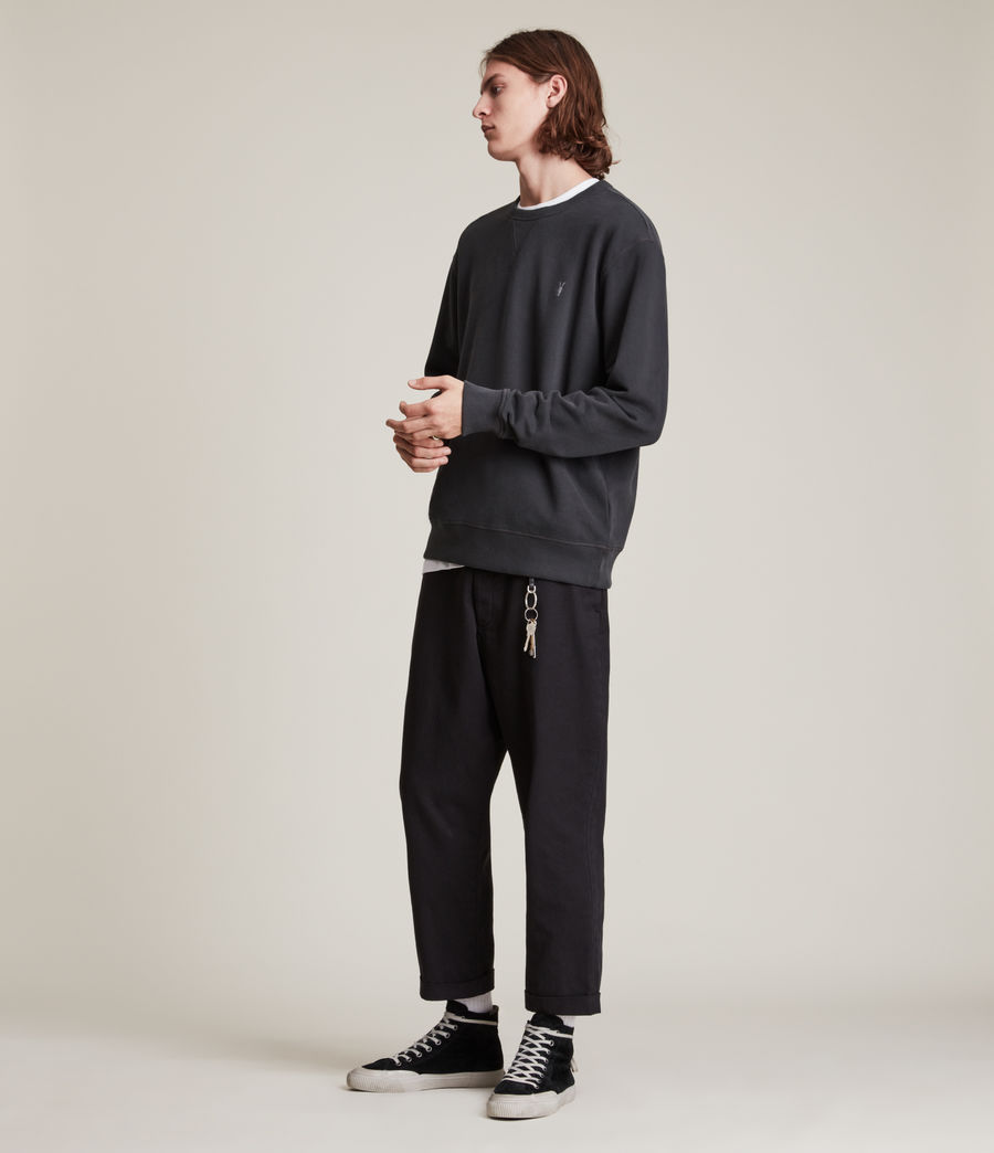 Men's Ollie Crew Sweatshirt (washed_black) - Image 3