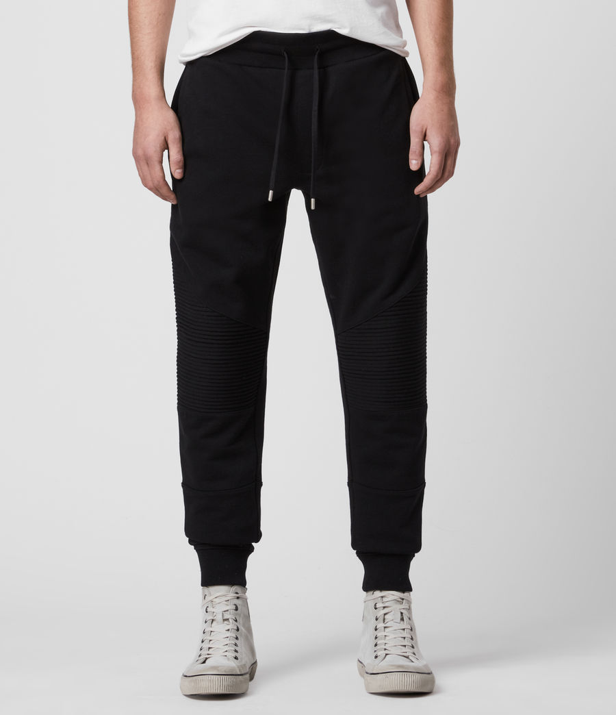 Mens Maddox Cuffed Slim Sweatpants (jet_black) - Image 1