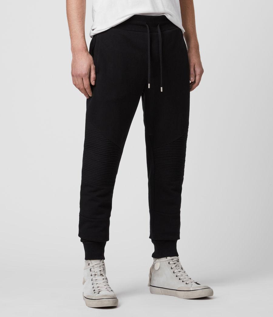 Mens Maddox Cuffed Slim Sweatpants (jet_black) - Image 3