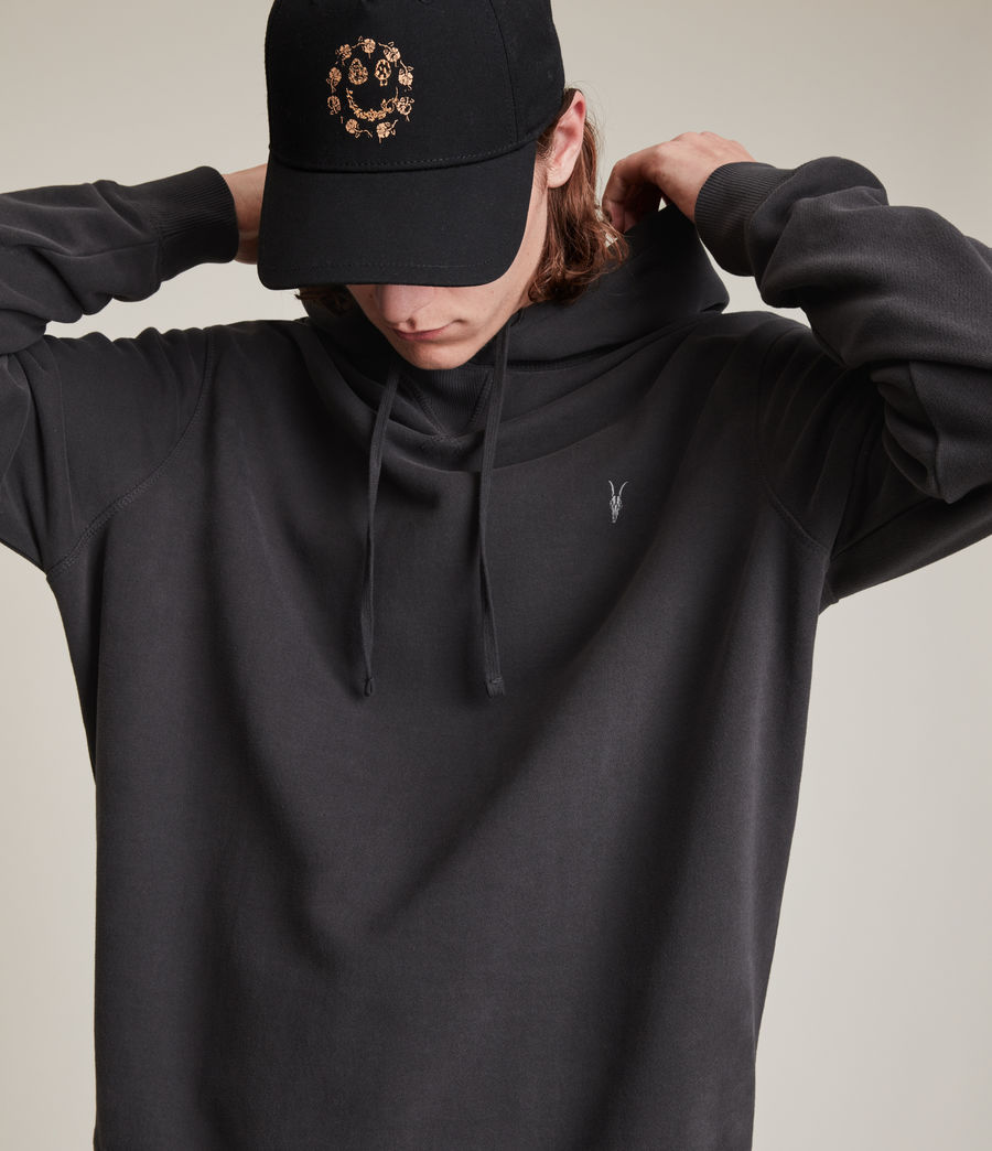 Men's Ollie Pullover Hoodie (washed_black) - Image 2