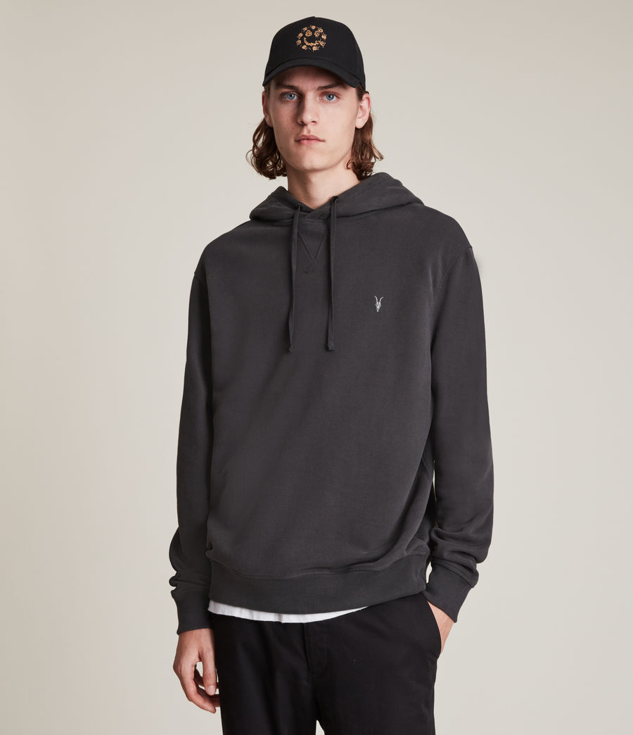 Men's Ollie Pullover Hoodie (washed_black) - Image 4