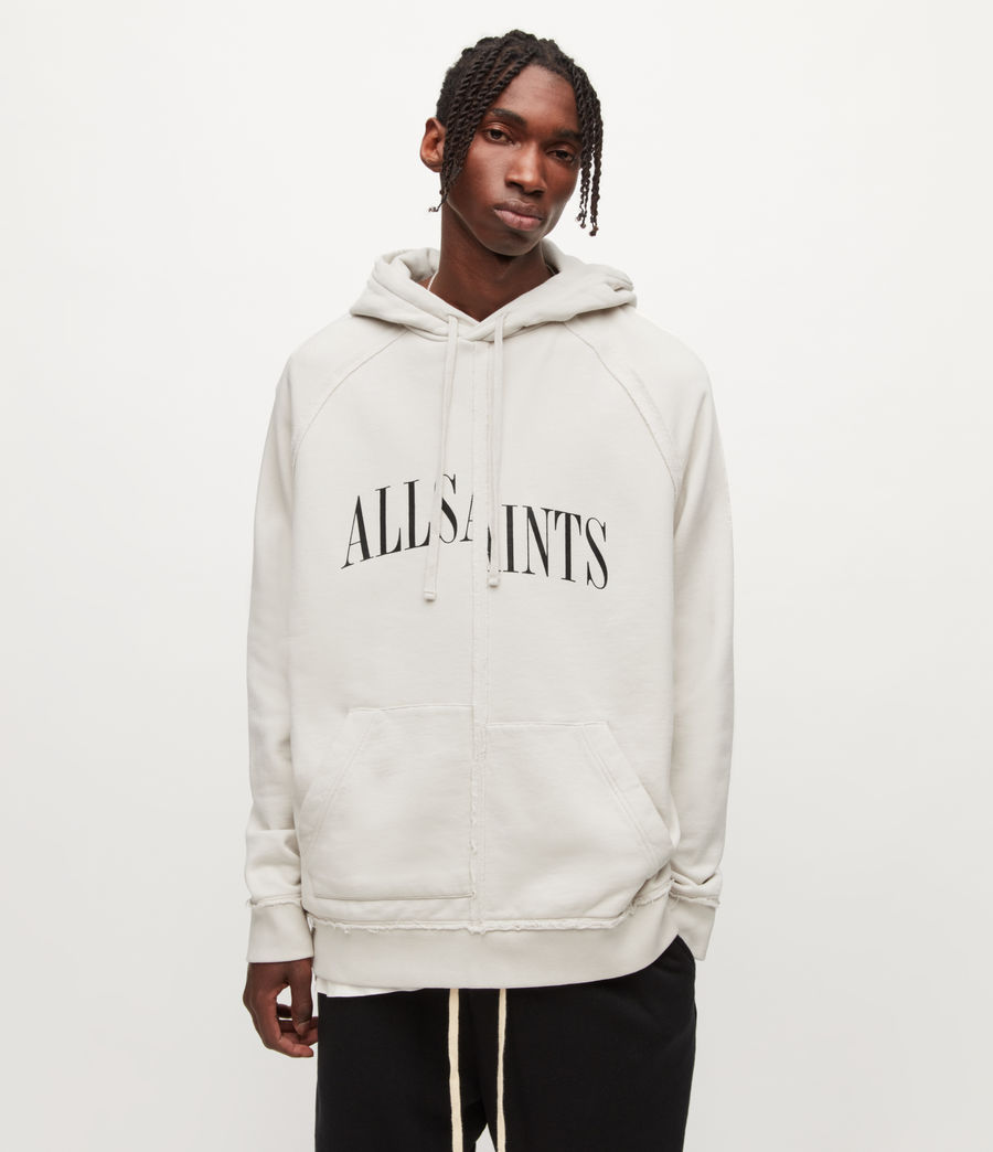 Mens Diverge Pullover Hoodie (ash_white) - Image 1