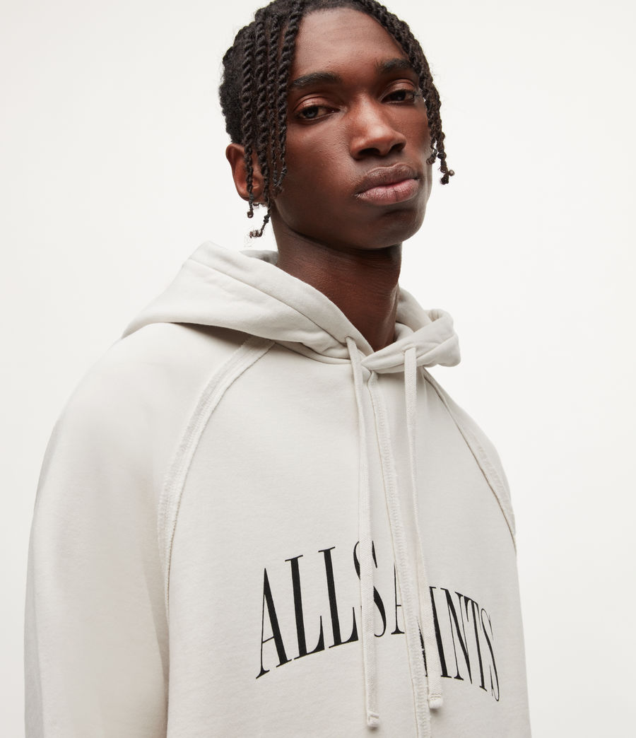 Mens Diverge Pullover Hoodie (ash_white) - Image 2