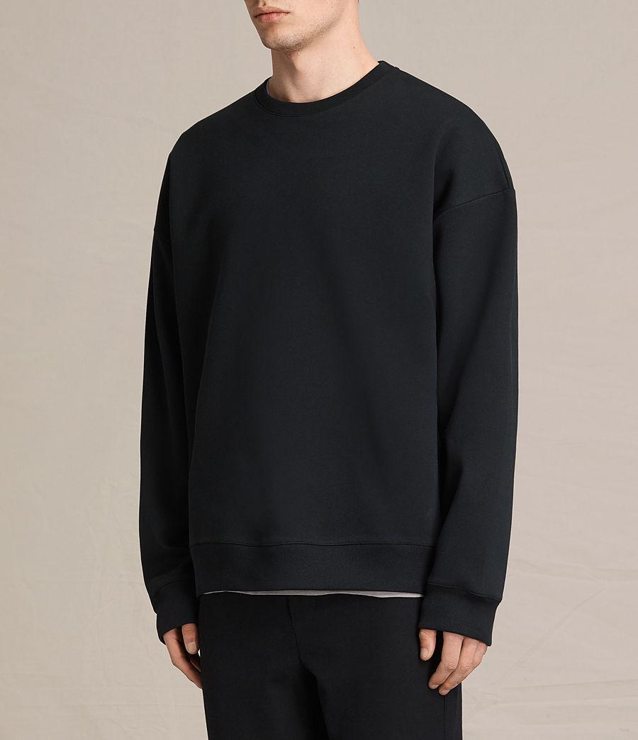 Men's Hibern Crew Sweatshirt (jet_black) - Image 3