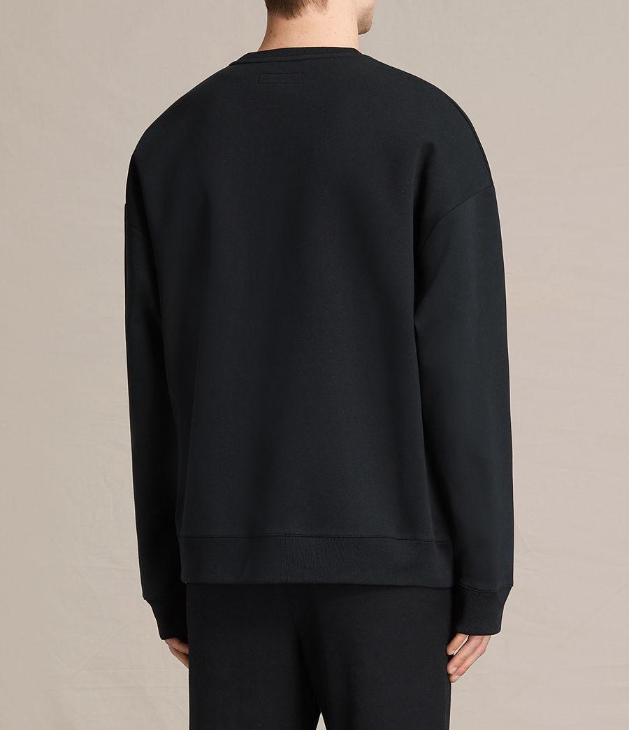 Men's Hibern Crew Sweatshirt (jet_black) - Image 4