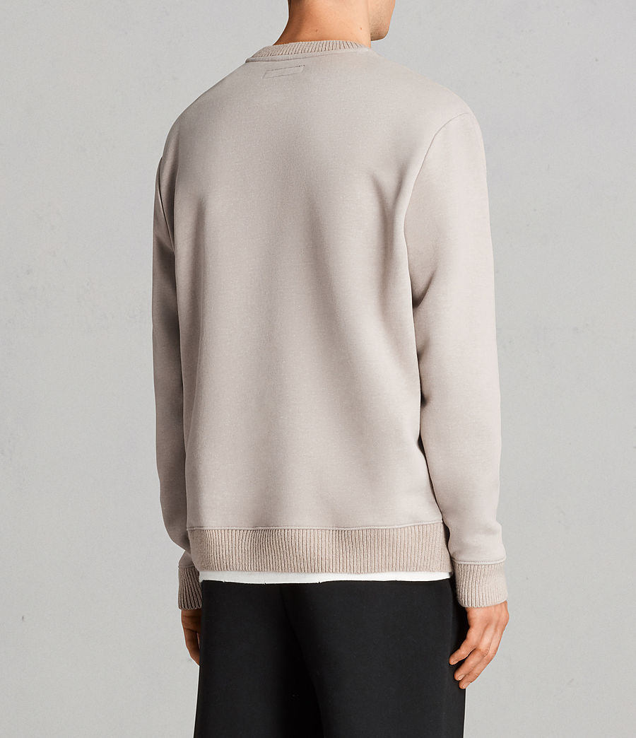 Mens Elders Crew Sweatshirt (pomise_ecru) - Image 4