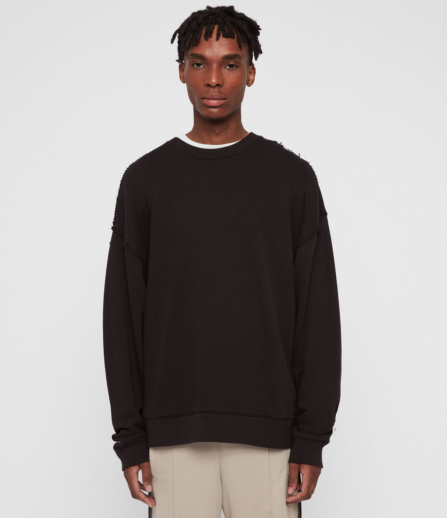 Mens Kyle Crew (washed_black) - Image 1