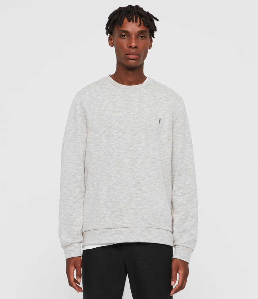 Mens Gahan Crew Sweatshirt (cement_grey_marl) - Image 1