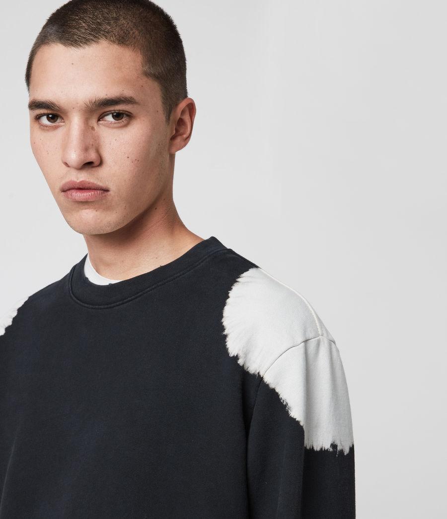 Mens Ovid Crew Sweatshirt (black_white) - Image 2