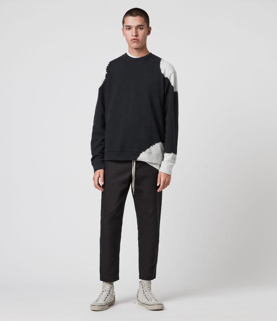 Mens Ovid Crew Sweatshirt (black_white) - Image 3