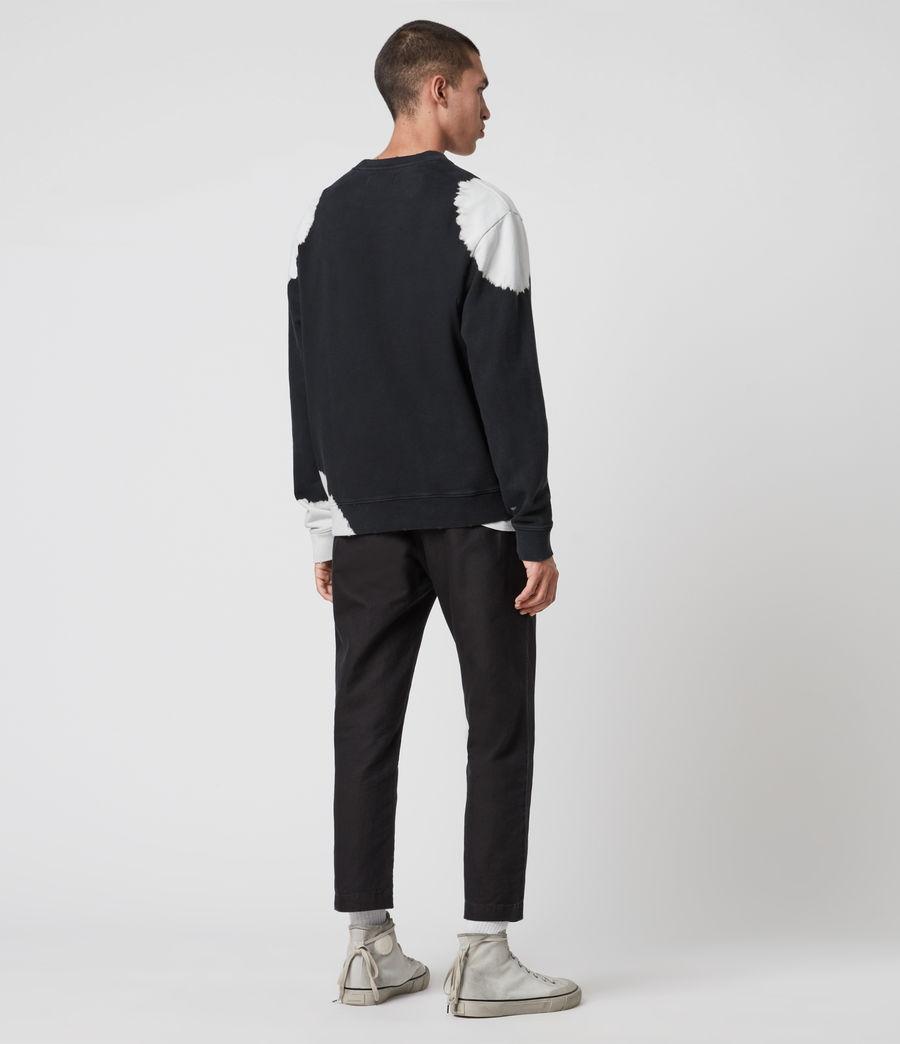 Mens Ovid Crew Sweatshirt (black_white) - Image 5