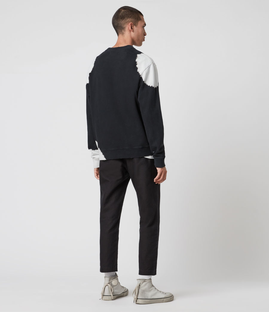 Men's Ovid Crew Sweatshirt (jet_black_white) - Image 5