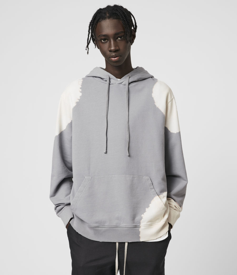 Hommes Ovid Pullover Hoodie (grey_white) - Image 1