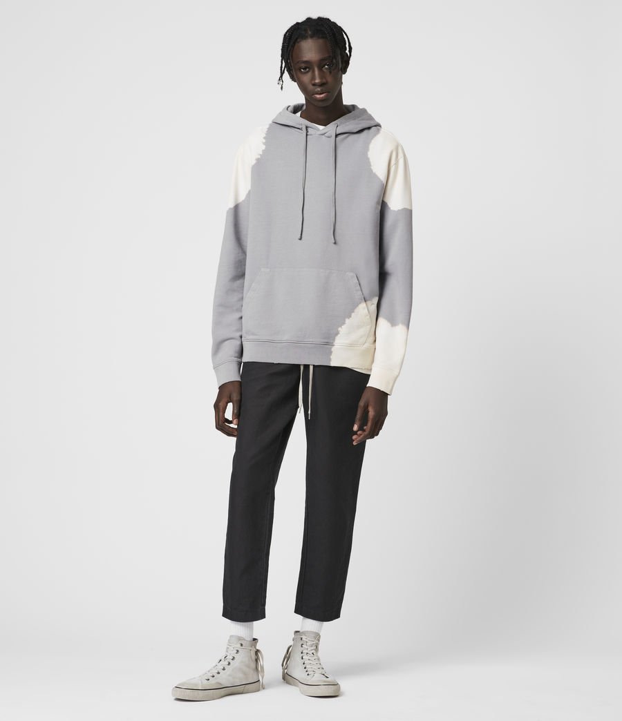 Hommes Ovid Pullover Hoodie (grey_white) - Image 3