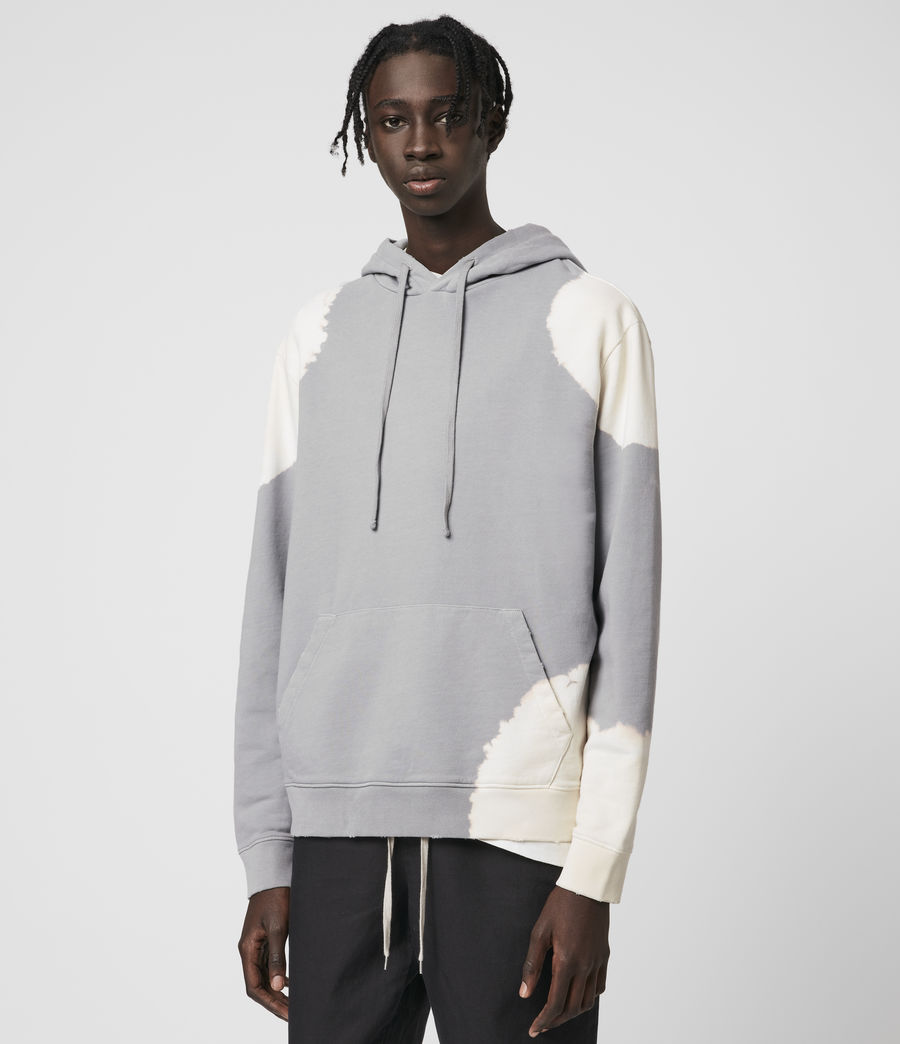 Hommes Ovid Pullover Hoodie (grey_white) - Image 4