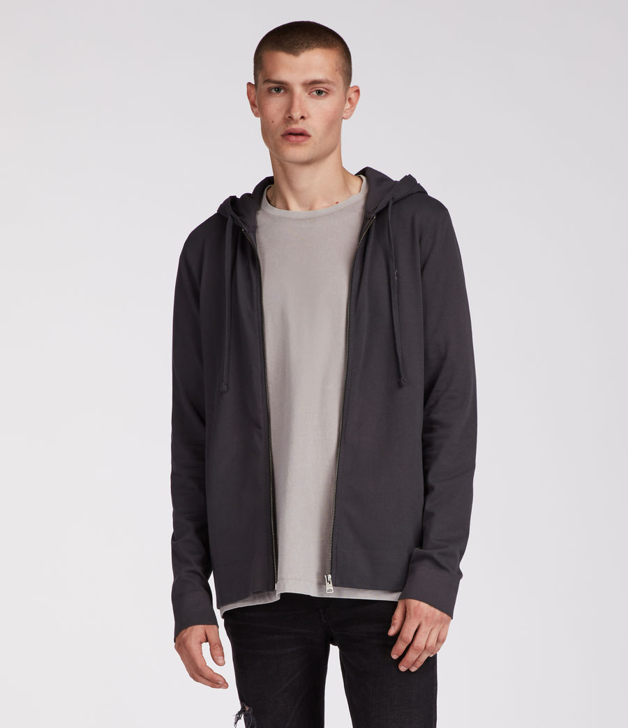 Mens Vixen Zip Hoodie (washed_black) - Image 1